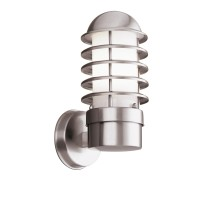 Louvre Outdoor - 1 Light Wall Bracket, Stainless Steel, White Shade