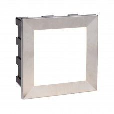 Ankle Led Indoor/Outdoor Recessed Square, Chrome, Opal White Diffuser