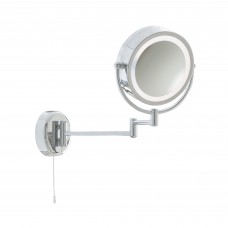Bathroom Illuminated  Mirror - Chrome Extendable Swing Arm Lt 190Mm