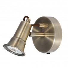 Eros - 1 Light Spotlight, Antique Brass
