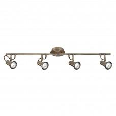 Eros - 4 Light Spotlight Split-Bar, Antique Brass
