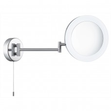 Bathroom Shaving Mirror, 3 X  Magnification, Ip44, Chrome, Frosted Outer