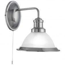 Bistro - 1 Light Wall Bracket, Satin Silver, Marble Glass