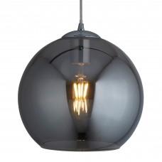 Balls 1 Light Round Pendant (25Cm Dia), Smoked Glass, Chrome