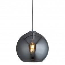 Balls 1 Light Round Pendant (30Cm Dia), Smoked Glass, Chrome