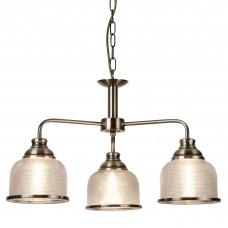 Bistro Ii - 3 Light Ceiling, Antique Brass, Halophane Glass