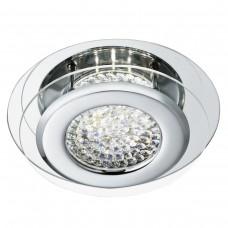Vesta Led Ceiling Flush, Chrome, Clear Crystal Centre Deco