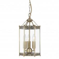 Lantern - 3 Light Antique Brass Hexagonal