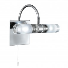Lima Bathroom - Ip44 (G9 Led) 2 Light Clear/Frosted Glass, Chrome