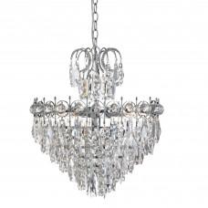 Catherine - 5 Light Tier Ceiling, Chrome, Clear Crystal