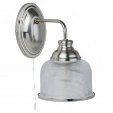 Bistro Ii - 1 Light Wall Bracket, Satin Silver, Halophane Glass