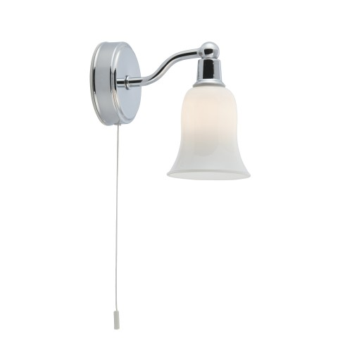 Belvue bathroom ip44 g9 led 1 light white shade wall light aloadofball Image collections