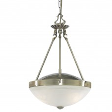 Regency 2 Light Antique Brass Pendant-Marble Glass