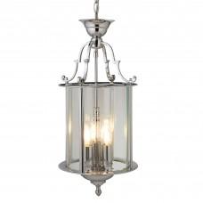 Lantern 25Cm Chrome 3 Light Bevelled Glass