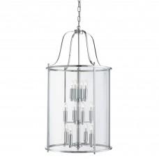 Victorian Lantern, 12 Light Chrome, Clear Glass Panels
