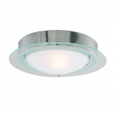 Bathroom Ip44  1 Light - Chrome Flush Clear/Opal Glass