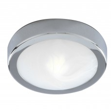 Bathroom Ip44  1 Light - Chrome Flush Marble Glass
