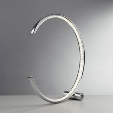 Rings Led Table Lamp, Chrome, Clear Crystal