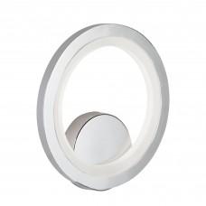 Led Ring Wall Bracket, Chrome, Frosted Acrylic