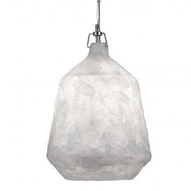 Clouds 1 Light Acrylic Pendant, White, 33Cm Dia