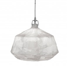 Clouds 1 Light Acrylic Pendant, White, 46Cm Dia
