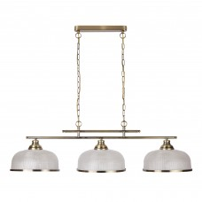 Bistro Ii - 3 Light Ceiling Bar, Antique Brass, Marble Glass
