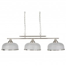 Bistro Ii - 3 Light Ceiling Bar, Satin Silver, Marble Glass