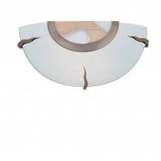 Flush Tiffany Glass Wall Bracket Dish - Amber Decro