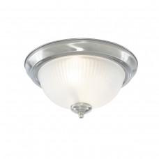 American Diner - 2Lt Ip44 Ceiling Flush, Chrome, Acid Glass