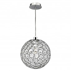 Chantilly Pendant - 1 Light Chrome With Clear Acrylic Buttons