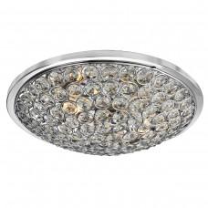 Chantilly 3 Light Chrome Flush/Clear Crystal Buttons