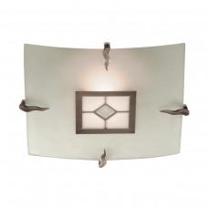 Flush Tiffany Glass  Ceiling Fitting - Sq 30Cm - Diamond