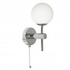 Global Bathroom - 1 Light (G9 Led) Ip44 Wall Bracket, Chrome, Opal Glass