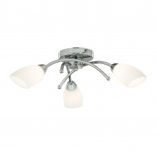 Bathroom - Ip44 (G9 Led) 3 Light Chrome Flush With Opal Glass Shades