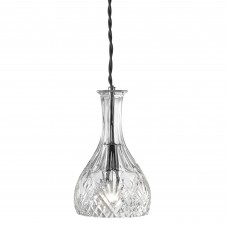 Decanter Pendant 1 Light  - Rounded Decanter Cut Glass
