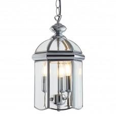 Lantern Chrome Bevelled Glass  Domed 3 Light