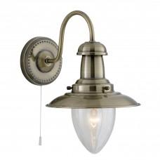 Fisherman Antique Brass Wall Light