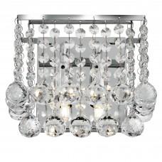 Hanna 2 Lightchrome Square Wall Bracket - Clear Crystal Ball