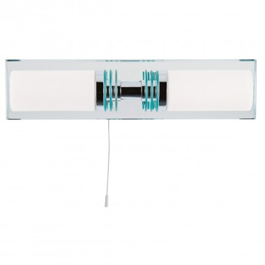 Lima Bathroom - 2 Light (G9 Led) Chrome/Glass Mirrored Backplate Wall Bracket Ip44