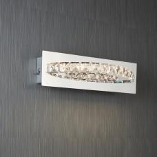 Clover Led Curved Wall Bracket, Clear Crystal, Chrome