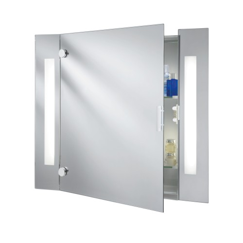 Bathroom light illuminated mirror glass cabinet 2 light shaver bathroom light illuminated mirror glass cabinet 2 light shaver socket aloadofball Image collections