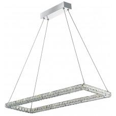 Clover - Led Ceiling (Rectangle), Chrome, Clear Crystal Glass