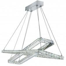 Clover - Led Ceiling (2 X Rectangle), Chrome, Clear Crystal Glass