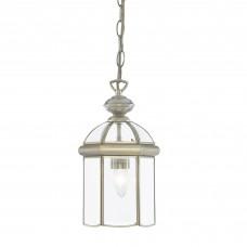 Lantern Antique Brass Glass Domed 1 Light