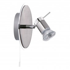 Aries (Gu10 Led) Ip44 1 Light Chrome Spotlight Wall Bracket
