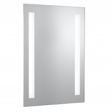 Bathroom Ip44 - 2 Light Touch Bathroom Mirror With Shaver Socket