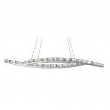 Clover - Led Ceiling (Oval), Chrome, Clear Crystal Glass
