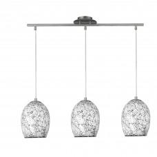 Crackle - 3 Light White Glass Pendant