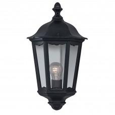 Alex Outdoor Wall Light - 1 Light Black 'Half'