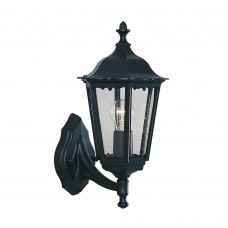 Alex Outdoor Wall Light - 1 Light Black Uplight